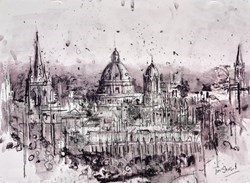 The Dreaming Spires of Oxford II by Tim Steward -  sized 30x22 inches. Available from Whitewall Galleries